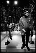 Liam Gallagher recording for Channel 4, London, UK,2006.