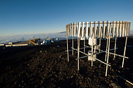 Meteorological rain sensor, Mauna Loa Observatory, Hilo, Hawaii.