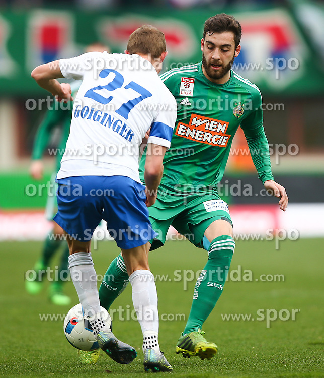 28.02.2016, Ernst Happel Stadion, Wien, AUT, 1. FBL, SK Rapid Wien vs SV Groedig, 24. Runde, im Bild Thomas Goiginger (SV Groedig) und Thanos Petsos (SK Rapid Wien) // during a Austrian Football Bundesliga Match, 24th Round, between SK Rapid Vienna and SV Groedig at the Ernst Happel Stadion, Vienna, Austria on 2016/02/28. EXPA Pictures © 2016, PhotoCredit: EXPA/ Thomas Haumer