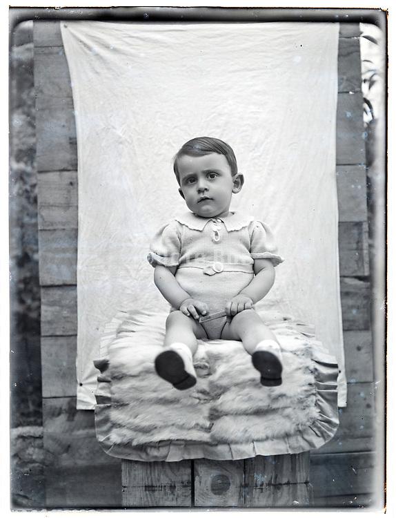 toddler posing late 1930s