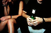 Couple drinking alcohol, UK 2000's
