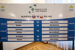 Official Draw of Davis Cup 2018 tournament between National teams of Slovenia and Poland, on February 2, 2018 in Mestna hisa - Mariborski Rotovz, Maribor, Slovenia. Photo by Rene Gomolj / Sportida