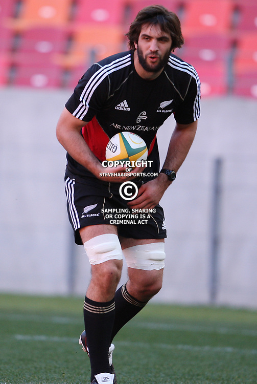 PORT ELIZABETH, SOUTH AFRICA - AUGUST 19, Samuel Whitelock during the New Zealand national rugby team Captain's Run at Nelson Mandela Bay Stadium on August 19, 2011 in Port Elizabeth, South Africa<br /> Photo by Steve Haag / Gallo Images