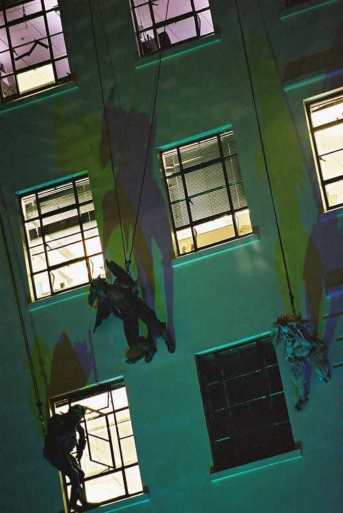 New Zealand International Arts Festival 2002: Gargoyles<br /> <br /> Photo by Robert Catto, on Monday 18 March, 2002. Please credit &amp; tag the photographer when images are used - @robertcatto on Instagram &amp; Twitter, @robertcattophotographer on Facebook.
