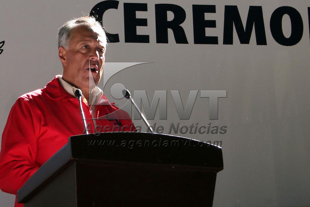ANGANGUEO, Michoacán.- Gustavo Cárdenas Monroy, secretario de Medio Ambiente del Estado de México durante la apertura de los santuarios de la Mariposa Monarca. Agencia MVT / Sulma Jiménez. (DIGITAL)