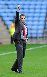 Bristol City manager, Steve Cotterill thanks the away support  - Photo mandatory by-line: Joe Meredith/JMP - Mobile: 07966 386802 - 18/10/2014 - SPORT - Football - Coventry - Ricoh Arena - Bristol City v Coventry City - Sky Bet League One