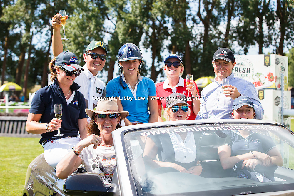 WORLD CUP FINAL RIDERS HAVE A BIT OF FUN WITH AUDI: 2016 NZL-Continental Cars Audi World Cup Showjumping (Saturday 16  January) CREDIT: Libby Law COPYRIGHT: LIBBY LAW PHOTOGRAPHY