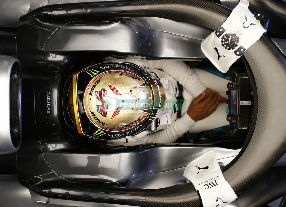 July 6, 2018 - Silverstone, Great Britain - #44 LEWIS HAMILTON (GBR, Mercedes AMG Petronas Motorsport) in the garage during a practice session ahead of FIA Formula One World Championship 2018, Grand Prix of Great Britain. (Credit Image: © Hoch Zwei via ZUMA Wire)