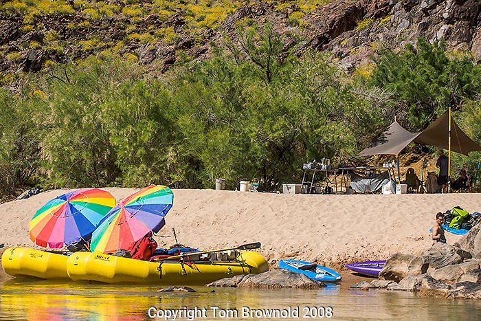 Private river trip laying over at Bass camp. River Mile 108.5