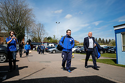 Bristol Rugby Director of Rugn Andy Robinson (R) arrives at Goldington road ahead of the match - Mandatory byline: Rogan Thomson/JMP - 01/05/2016 - RUGBY UNION - Goldington Road - Bedford, England - Bedford Blues v Bristol Rugby - Greene King IPA Championship Play Off Semi Final 1st Leg.