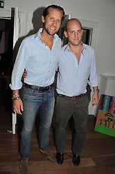 Left to right,  JAKE PARKINSON-SMITH and CARLO CARELLO at a dinner hosted by Marlon and Nadya Abela in aid of Kids Company at Morton's, Berkeley Square, London on 25th September 2012.