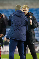 Football - 2016 / 2017 FA Cup - Third Round: Millwall vs. AFC Bournemouth<br /> <br /> Millwall Manager Neil Harris commiserates with Bournemouth manager Eddie Howe at the end of the game , at The Den.<br /> <br /> COLORSPORT/WINSTON BYNORTH