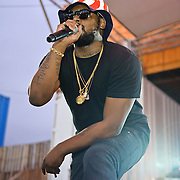 WASHINGTON, DC - August 11th, 2012 - Underground hip-hop sensation Schoolboy Q performs at the inaugural Trillectro Festival at the Half Street Fairgrounds in Washington, D.C. The festival was a combination of hip-hop and dance acts, bringing together fans of both genres.  (Photo by Kyle Gustafson/For The Washington Post)