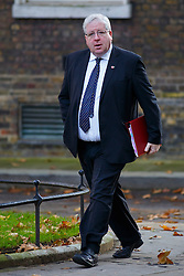 © Licensed to London News Pictures. 04/11/2014. LONDON, UK. Transport Secretary Patrick McLoughlin attending to a cabinet meeting in Downing Street on Tuesday 4 November 2014. Photo credit: Tolga Akmen/LNP