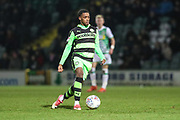 Forest Green Rovers Reece Brown(10) runs forward during the EFL Trophy 3rd round match between Yeovil Town and Forest Green Rovers at Huish Park, Yeovil, England on 9 January 2018. Photo by Shane Healey.