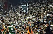 KOSARKA, BEOGRAD, 25. Nov. 2010. - Navijaci Partizana. Utakmica 6. kola Evrolige za sezonu 2010/2011 izmedju Partizana i Zalgiris odigrane u hali Pionir. Euroleague 6. round Partizan vs Zalgiris.  Foto: Nenad Negovanovic