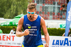 Jernej Potocnik of Debitel during Qlandia Beach Challenge 2015 and Beach Volleyball Slovenian National Championship 2015, on July 25, 2015 in Kranj, Slovenia. Photo by Ziga Zupan / Sportida