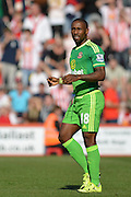 Sunderland AFC striker Jermain Defoe during the Barclays Premier League match between Bournemouth and Sunderland at the Goldsands Stadium, Bournemouth, England on 19 September 2015. Photo by Mark Davies.