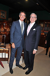 Left to right, TIM JEFFERIES and LORD CHADLINGTON at a preview evening of the annual London LAPADA (The Association of Art & Antiques Dealers) antiques Fair held in Berkeley Square, London on 20th September 2011.
