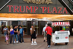 Baordwalk entrance of the Trump Plaza Casino. (Bas Slabbers/for NewsWorks)