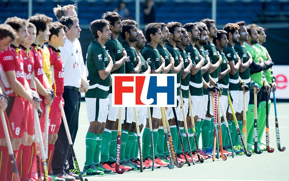 BREDA - Rabobank Hockey Champions Trophy<br /> 5th/6th place Belgium - Pakistan<br /> Photo: Pakistani line up.<br /> COPYRIGHT WORLDSPORTPICS FRANK UIJLENBROEK