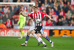 SHEFFIELD, ENGLAND - Saturday, March 17, 2012: Sheffield United's Chris Porter in action against Tranmere Rovers during the Football League One match at Bramall Lane. (Pic by David Rawcliffe/Propaganda)