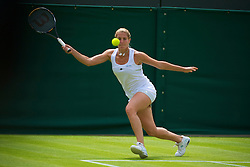 LONDON, ENGLAND - Monday, June 21, 2010: Maria Elena Camerin (ITA) during the Ladies' Singles 1st Round on day one of the Wimbledon Lawn Tennis Championships at the All England Lawn Tennis and Croquet Club. (Pic by David Rawcliffe/Propaganda)