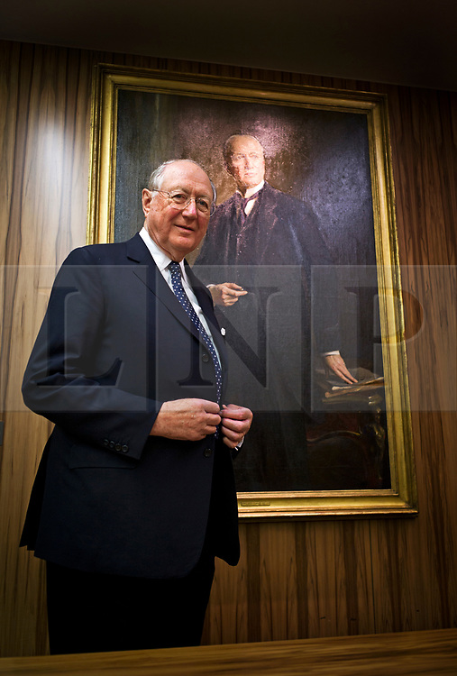 © Licensed to London News Pictures. 22/02/2013. London, UK. Bruno Schroder, Non-executive Director at Schroder Bank, pictured in front of a painting of his grandfather Baron Johan Heinrich Schroder, at the Schroder Bank headquarters in London. . The billionaire head of his family's investment bank, has passed away aged 86. Photo credit: Ben Cawthra/LNP