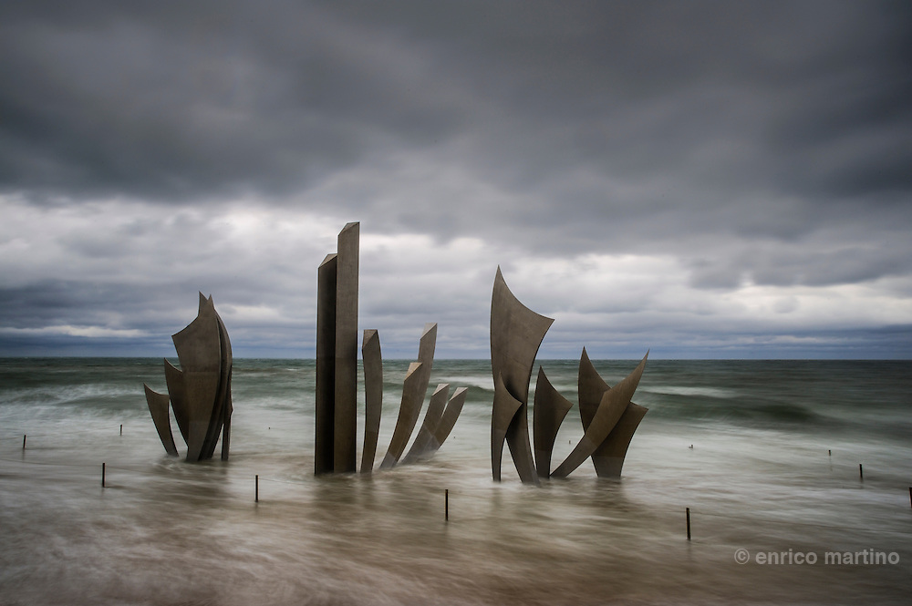Colleville-Sur-Mer, Omaha Beach. The Memorial remembers the WWII D-Day of June 6, 1944.
