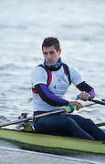 Caversham, Reading, Great Britain,  Sam TOWNSEND push's of the boating pontoon to compete in the GBRowing Training Session, Water and Gym/Ergo, at the National Training Base, Berkshire, England.<br /> <br /> Wednesday  18/11/2015<br /> <br /> [Mandatory Credit; Peter Spurrier/Intersport-images]