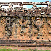 Terrace of the Leper King at Angkor Thom in Angkor Archaeological Park, Cambodia<br />