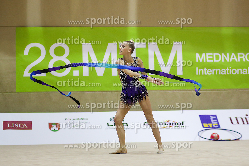 Kaat Wyers of Belgium competes during 28th MTM - International tournament in rhythmic gymnastics Ljubljana, on April 4, 2015 in Arena Krim, Ljubljana, Slovenia. Photo by Matic Klansek Velej / Sportida