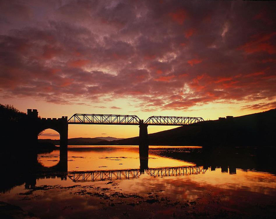 Sunset over Creagan Bridge, Loch Creran, Argyll