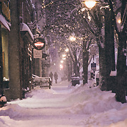 Snowy Traverse City Michigan Evening