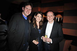 Left to right, TOM LEGGETT, NICOLE VOLAVKA and DAVID PARFITT at a party following a gala evening of Daniela Lavender's one woman show 'A Woman Alone'  The party was held at Blakes Hotel, Roland Gardens, London SW7 on 7th April 2011.