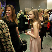 People mingle before the Wilmington Theater Awards at Thursday January 23, 2014 at Thalian Hall. (Jason A. Frizzelle)
