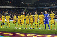 Football - 2013 / 2014 Europa League - Tottenham vs. Sheriff Tiraspol<br /> <br /> Sheriff Tiraspol line up prior to kick off at White Hart Lane Stadium.<br /> <br /> COLORSPORT/DANIEL BEARHAM