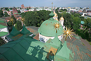 Jaroslawl. The Monastery. View from atop the church tower...A river cruise from Moscow to St. Petersburg aboard MS Kazan, the most luxurious vessel (four star plus) operating in Russia. It is run by Austrian River Cruises under strictly Western standards, chartered - amongst others - by Club 50, a senior's travel agency based in Vienna.