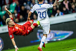 Petar Stojanović of Slovenia vs Egzijan Alioski of Macedonia during football match between National teams of Slovenia and North Macedonia in Group G of UEFA Euro 2020 qualifications, on March 24, 2019 in SRC Stozice, Ljubljana, Slovenia.  Photo by Matic Ritonja / Sportida