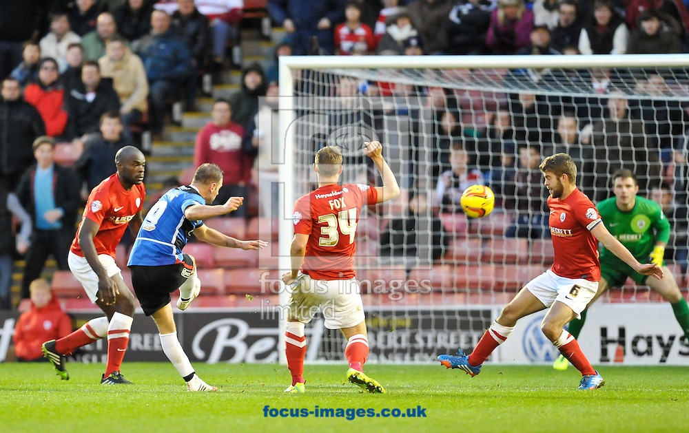 Picture by Richard Land/Focus Images Ltd +44 7713 507003<br /> 09/11/2013<br /> Richie Wellens of Doncaster Rovers shot goes high and wide during the Sky Bet Championship match at Oakwell, Barnsley.
