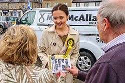 Mairi McCallan, SNP candidate for Dumfriesshire, Cydesdale and Tweeddale (DCT) who will take on David Mundell (Con) in the UK General Election on June 8th 2017 launches her campaign in Biggar, South Lanarkshire<br /> <br /> (c) Andrew Wilson | Edinburgh Elite media