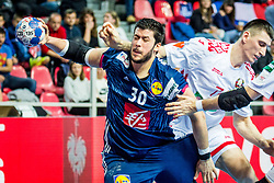Nicolas Tournat of France during handball match between National teams of Belarus and France on Day 4 in Preliminary Round of Men's EHF EURO 2018, on January 16, 2018 in Arena Zatika, Porec, Croatia. Photo by Ziga Zupan / Sportida