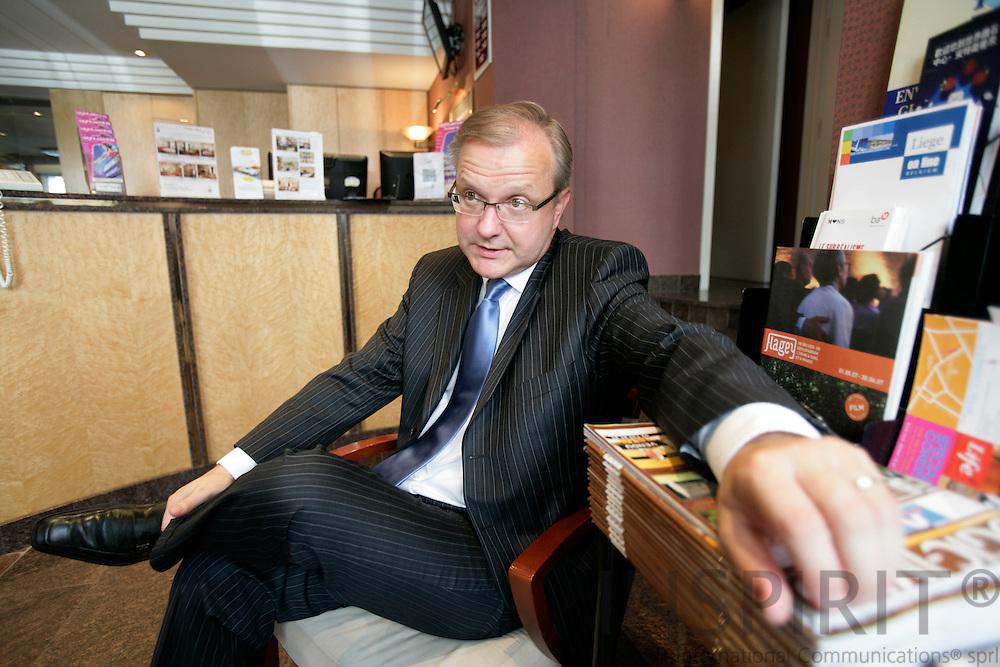 BRUSSELS - BELGIUM - 13 JUNE 2007 --EU Commissioner Olli REHN. Photo: Erik Luntang