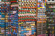 """December 6, 2009 - Manhattan, New York, U.S. -  Time Square store window display of magnets and keychains. Rows of hundreds of Magnets, some in Big Apple shape, displayed with """"I Love NY"""", """"Times Square"""", President Obama's photo with """"HOPE,"""""""