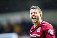 Marc Richards of Northampton Town celebrates  scoring their first goal during the Sky Bet League 2 match at Sixfields Stadium, Northampton<br /> Picture by Andy Kearns/Focus Images Ltd 0781 864 4264<br /> 14/11/2015