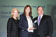 Manhattan Chamber of Commerce's 2012 Awards Breakfast celebrated business excellence by recognizing outstanding leaders. Daryl Roth, Daryl Roth Productions (l); Cultural Achievement Award winner Jane Rosenthal, Tribeca Film Festival (c) and Joseph Kirk, Wells Fargo (r). The awards were presented by Well Fargo and hosted at Con Edison's Conference Center on January 31, 2013.