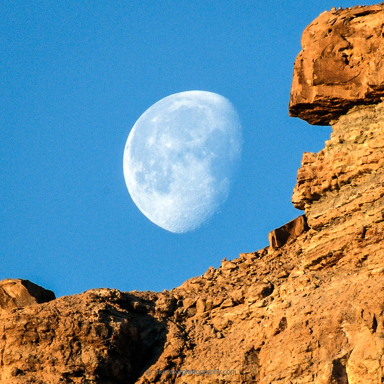 Partial Moon at Goblin Valley State Park Utah