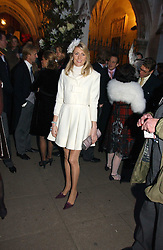 LADY EMILY COMPTON at the wedding of Clementine Hambro to Orlando Fraser at St.Margarets Westminster Abbey, London on 3rd November 2006.<br />