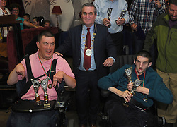 Presentations from the All Ireland Unlimited Roadbowling Championships held in Aughagower Westport Co Mayo.<br /> Pic Conor McKeown