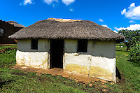 Visiting a small Zulu village near Hluhluwe in the KwaZulu-Natal province, South Africa. Outside the House of the Spirits, home of the ancestors.